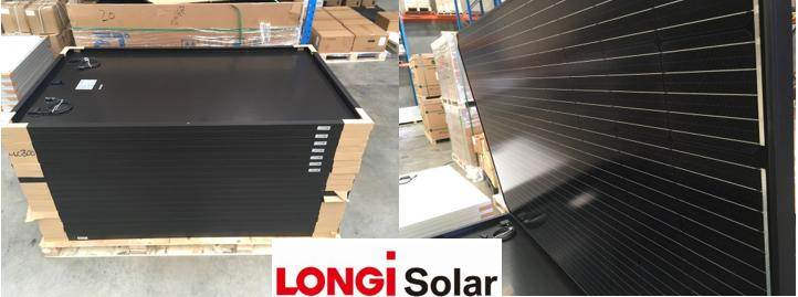 Longi Mono solar panels Warehouse